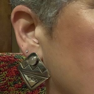 Jewelry - Navajo sterling and stone earrings